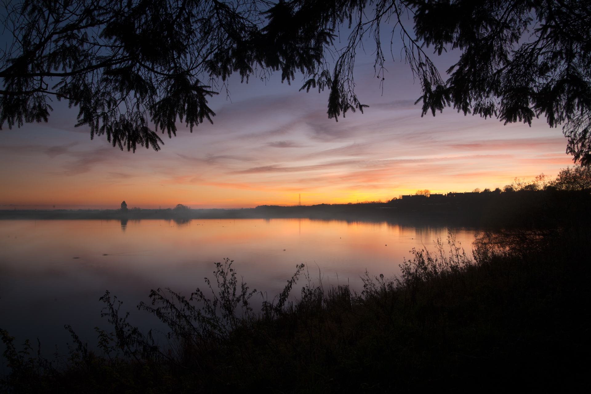 Thornton Reservoir Misty Sunset